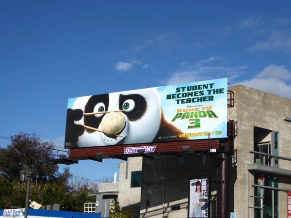 Kung Fu Panda 3 movie billboard
