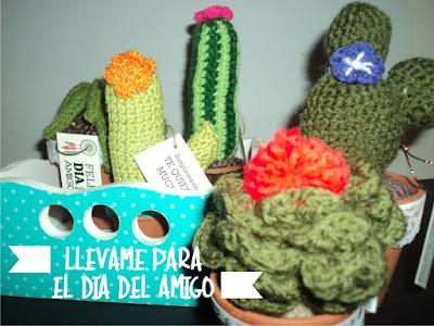 Cactus y crasas tejidas en crochet