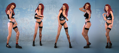 Z Firestarter - Poses and Partials for the Genesis 3 and 8 Female