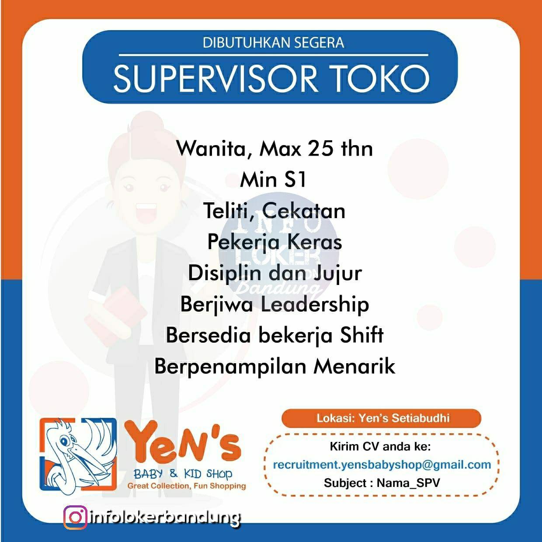 Lowongan Kerja Yen's Baby & Kid Shop Bandung November 2018