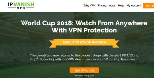 Special Offer of the World Cup in IPVanish VPN [Limited Time]