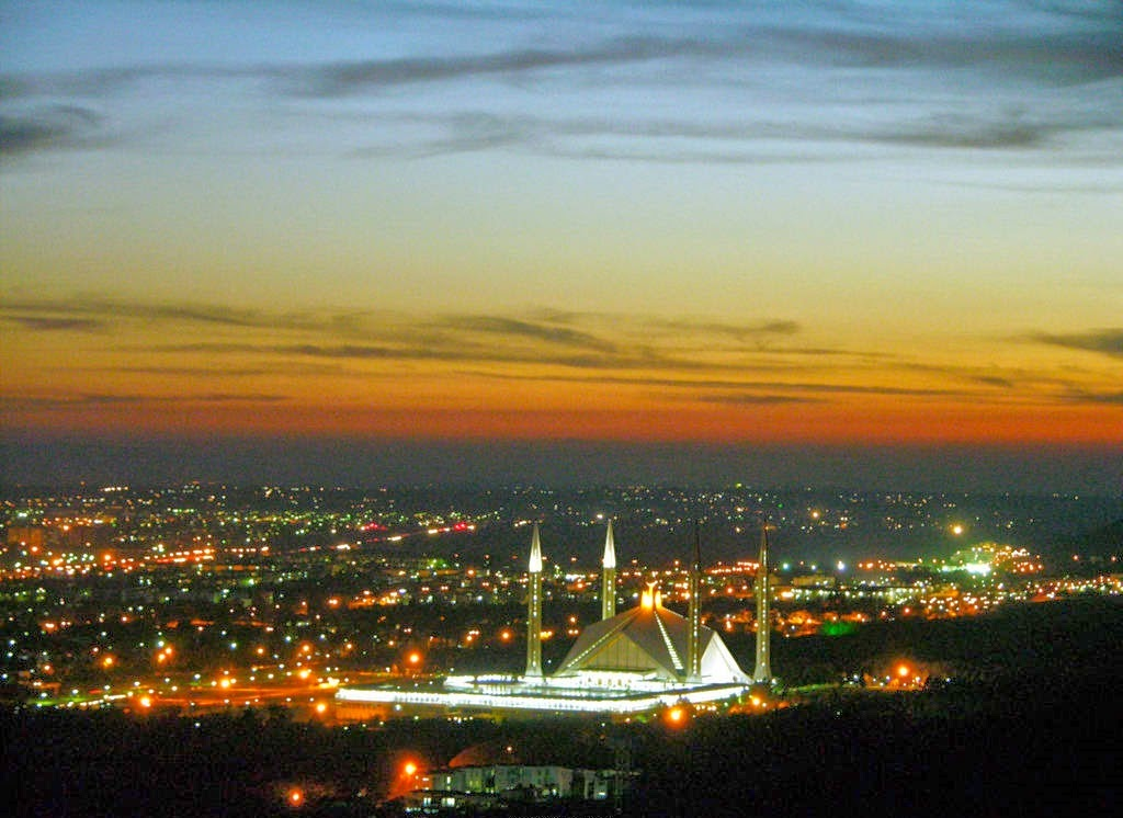 Faisal Mosque - View from Daman-e-Koh