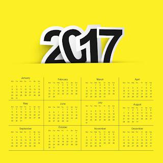 2017カレンダー無料テンプレート173