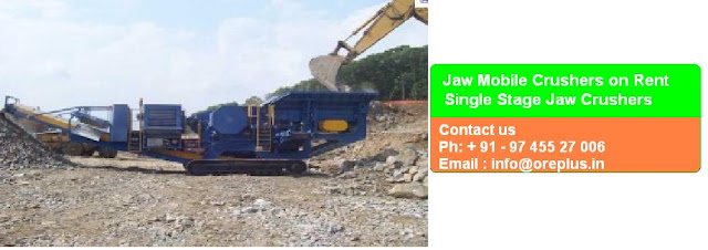 Mobile Coal Crushers on Hire in India for stone crushing, basalt rock crushing, iron ore crushing, bauxite crushing