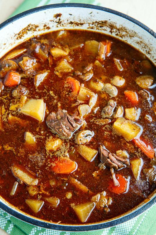 Steak and Guinness Stew with Irish White Cheddar Cauliflower Mash