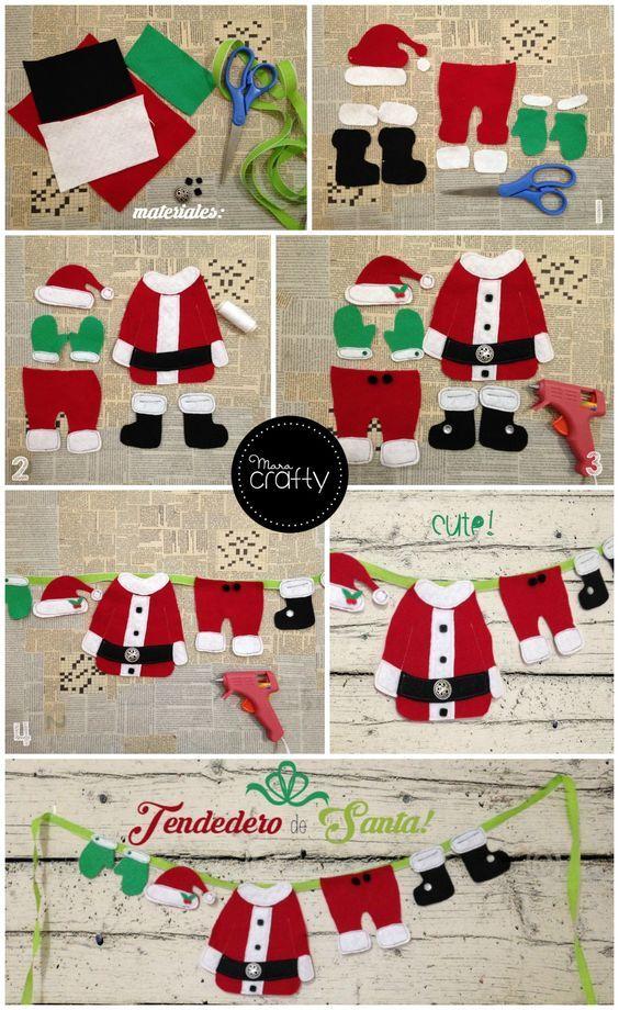 DIY - Decoração de Natal Com Feltro Super Fácil de Fazer Com Moldes 22
