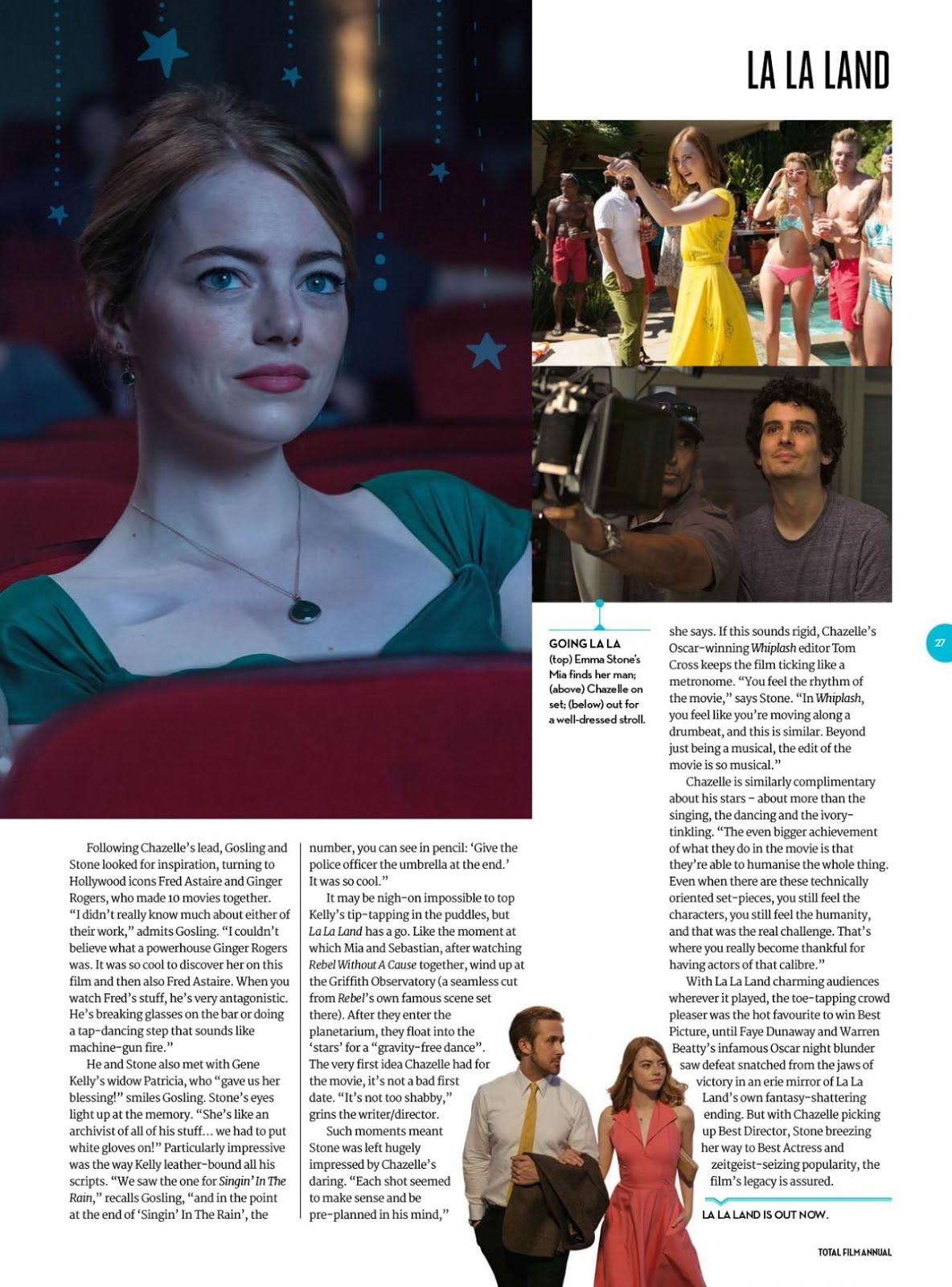 HD Photo of Emma Stone In Total Film Magazine Annual 2018