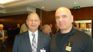 Le colonel Alain Bergonzoli et Pierre Scherb