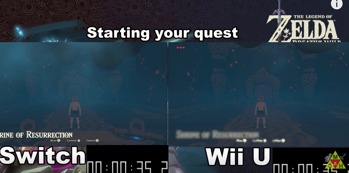 La versión de Wii U de Zelda: Breath of the Wild es más rápida en momentos muy concretos