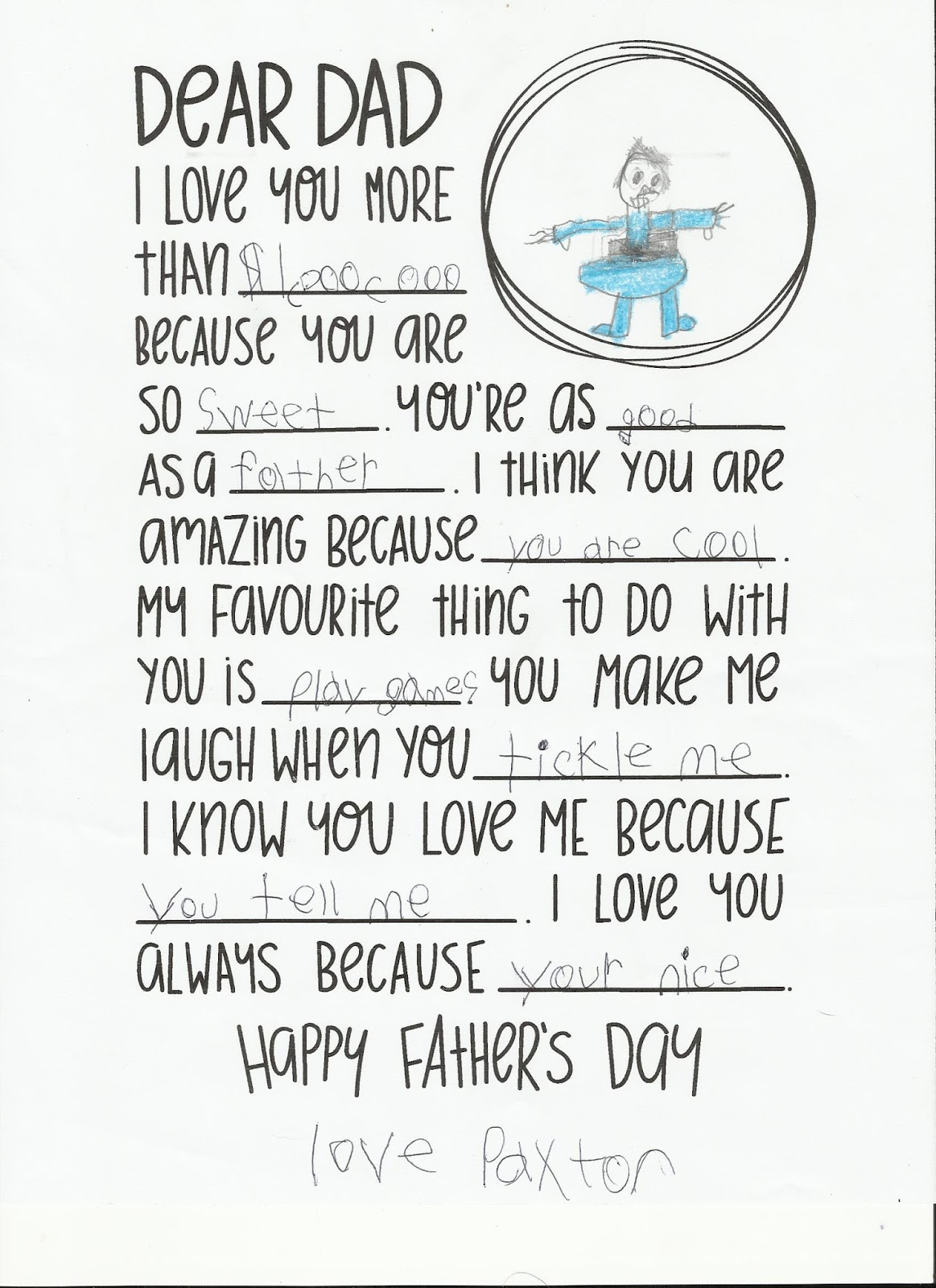 Mander Rocha: Fathers Day Letter From Child