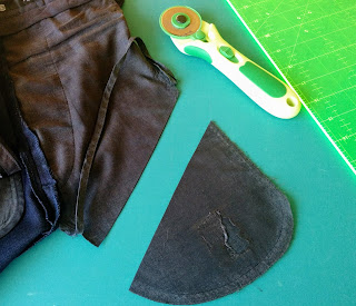 Creates Sew Slow: Chopping off the offending holey part