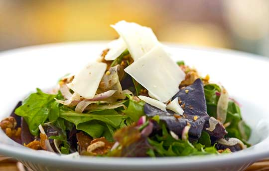 The Recipes Of Disney Arugula Salad With Fig Balsamic