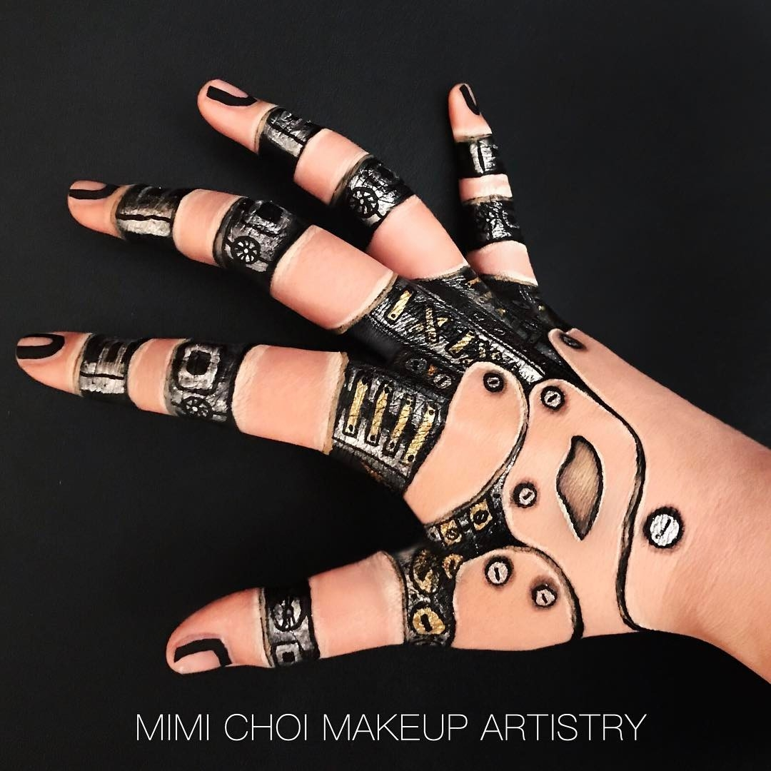 11-Not-Perfect-Like-a-Robot-Mimi-Choi-aka-mimles-Body-Painting-Many-Examples-of-face-Makeup-Application-www-designstack-co