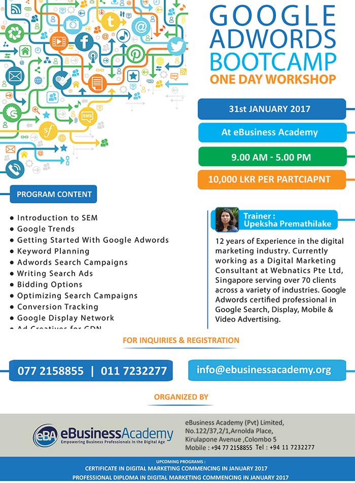 Join the 1 day bootcamp on Google AdWords