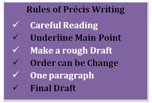 How To Write A Precis