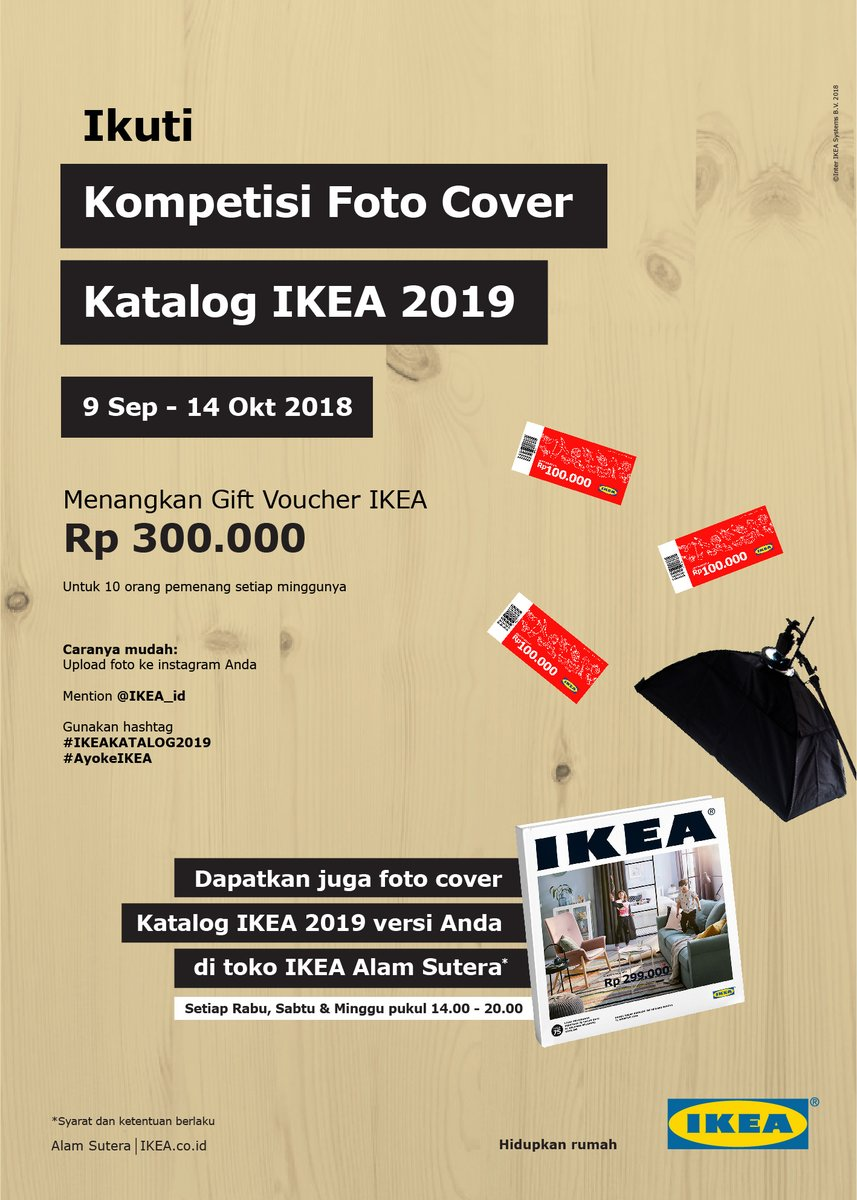 Ikea - Promo Kompetisi Foto Cover Katalog IKEA 2019 (s.d 14 Okt 2018)