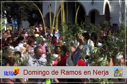 El Domingo de Ramos procesión de palmas y olivos por el centro urbano