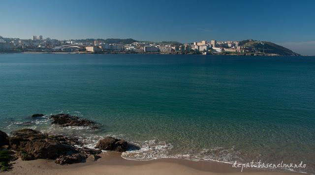 A Coruña desde el paseo maritimo