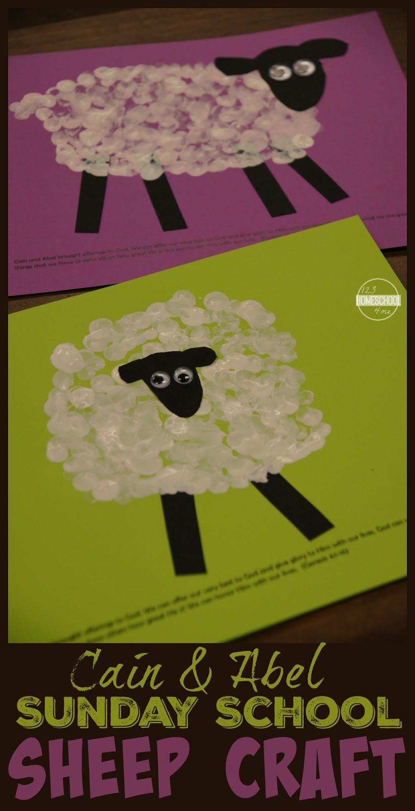 Cain & Abel Bible Sheep Craft