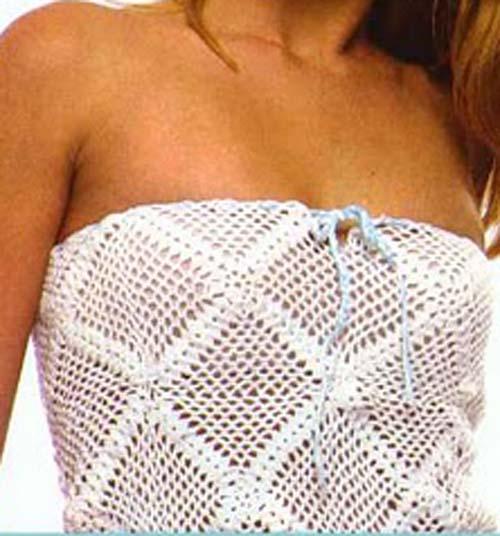Patron Crochet Top sin Tirantes