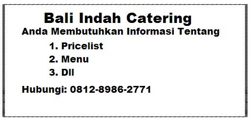 Bali Indah Catering Jakarta