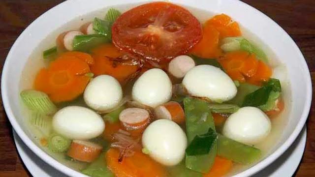 Sayur Sup Telur Puyuh