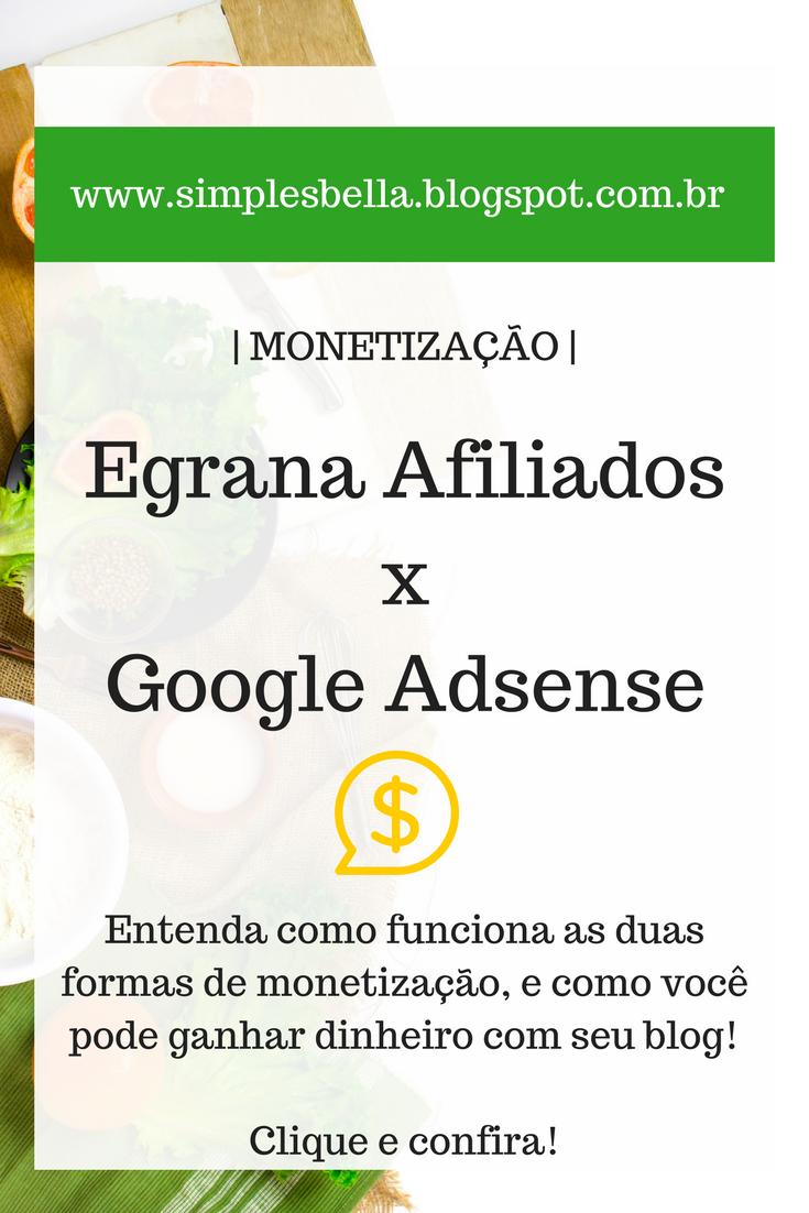 Egrana Afiliados, Google Adsense, Como ganhar dinheiro com blog.