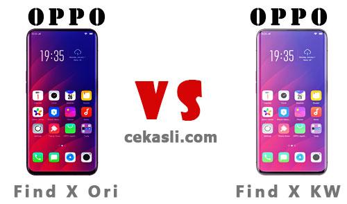 10 Cara Cek Harga Oppo Find X Asli dan Palsu (All Type)
