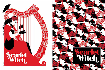 Scarlet Witch Marvel Comics Screen Prints by David Aja x Mondo