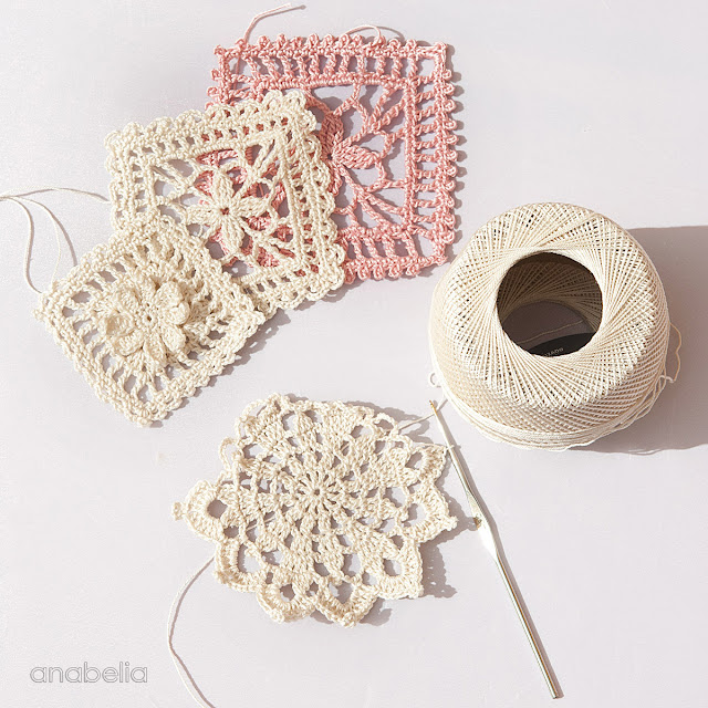 New crochet lace motifs by Anabelia Craft Design