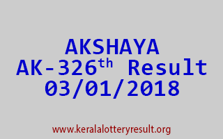 AKSHAYA Lottery AK 326 Results 3-1-2018