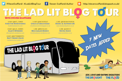 Lad Lit Blog Tour, #LadLitBlogTour, Steven Scaffardi, Lad Lit, Comedy, Funny Books, Blog Tour, The Drought, The Flood