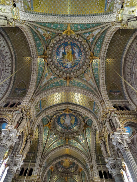 Things to do in Lyon France in 3 days: The interior of Basilica of Notre-Dame de Fourvière
