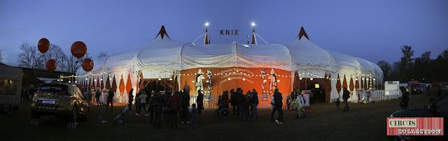 vue de face du Cirque Knie