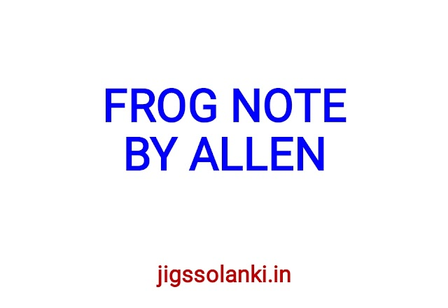 FROG NOTE BY ALLEN INSTITUTE