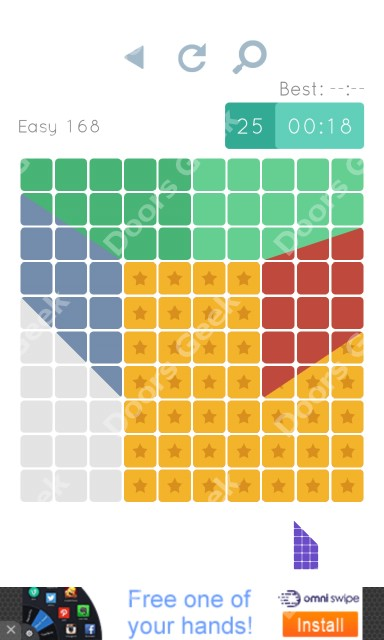 Cheats, Walkthrough for Blocks and Shapes Level 168