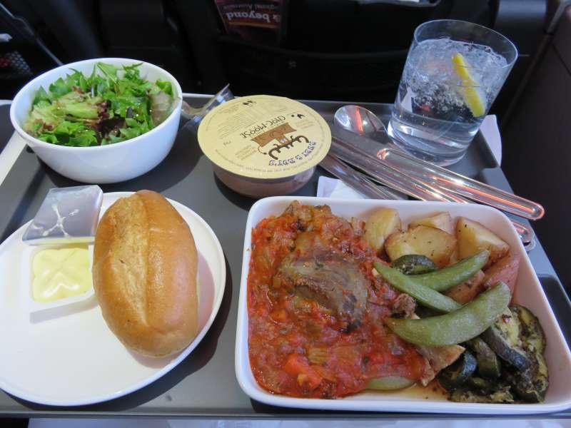 QANTAS Premium Economy food