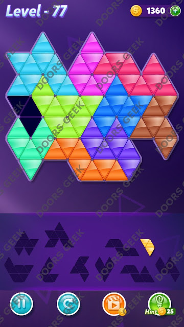 Block! Triangle Puzzle Master Level 77 Solution, Cheats, Walkthrough for Android, iPhone, iPad and iPod