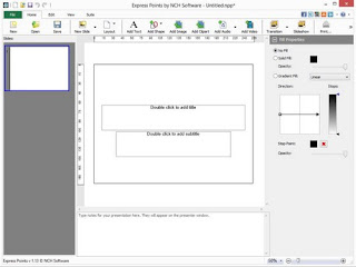 Express Points,un logiciel de présentation léger semblable à PowerPoint.