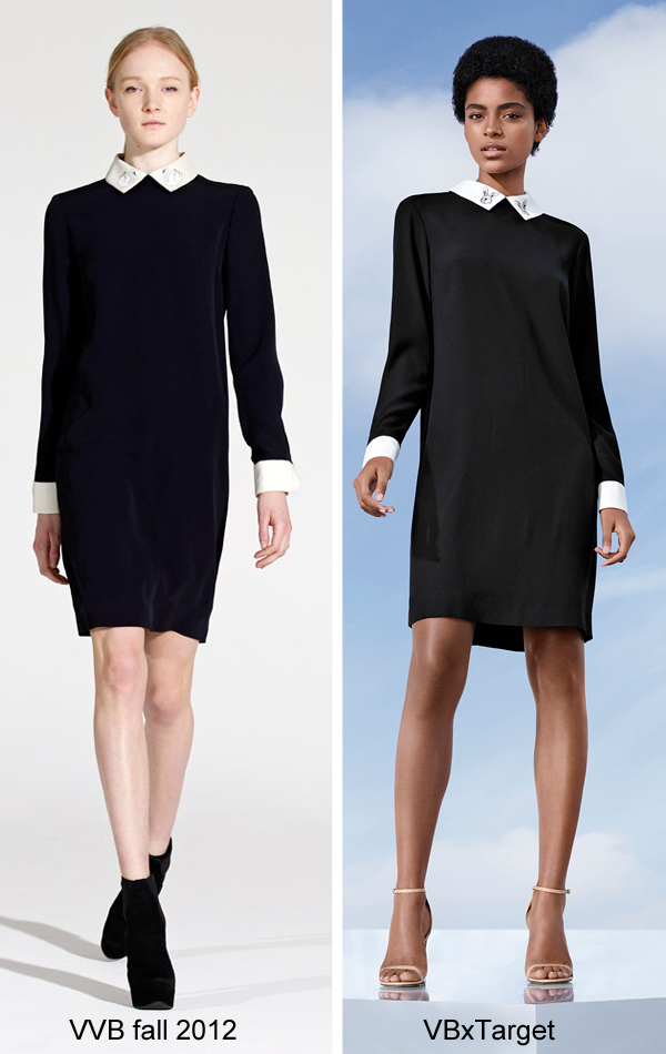 Victoria Beckham for Target black collared dress