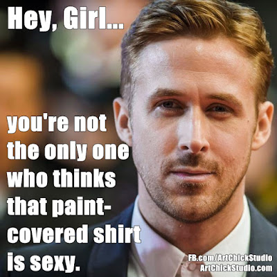 Hey Girl that paint shirt is sexy