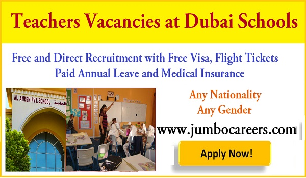 Avilable teachers jobs in Dubai, UAE New job vacancies with salary and benefits,