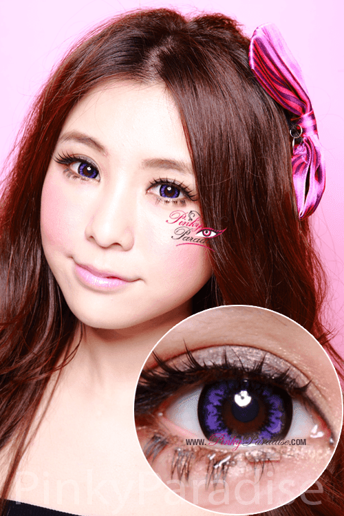 Geo Super Size Angel Violet Circle Lenses (Colored Contacts)