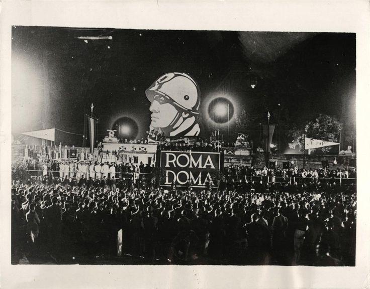 Rome Mussolini rally worldwartwo.filminspector.com