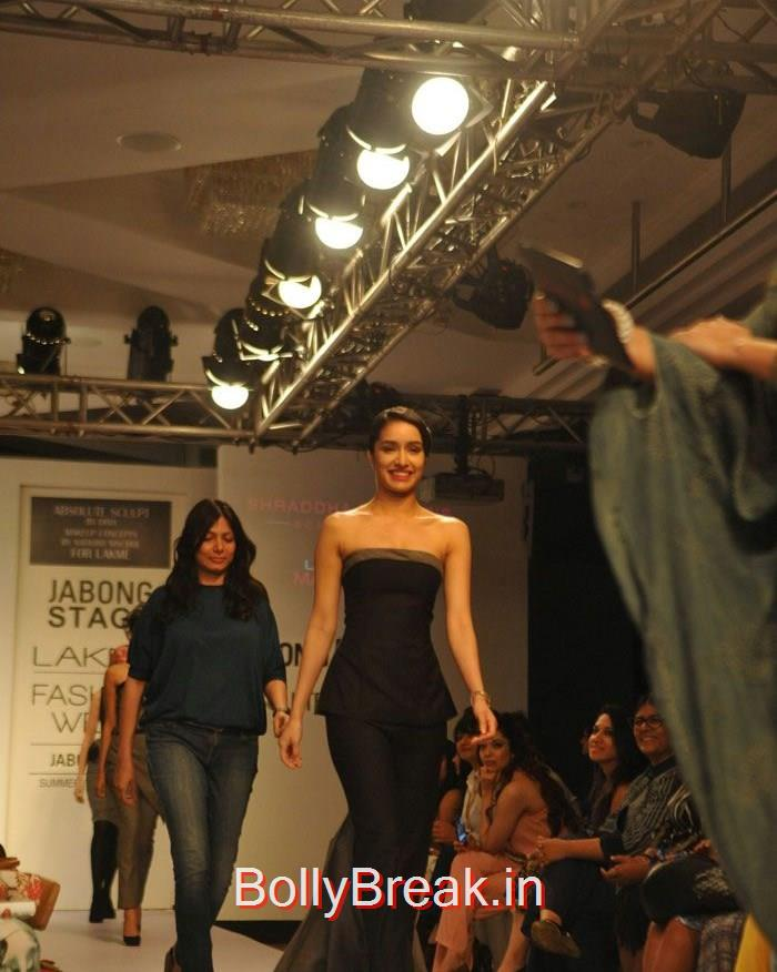 Shraddha Kapoor, Shraddha Kapoor in Black Tail Dress, Ramp Walk a Lakme fashion Week 2015