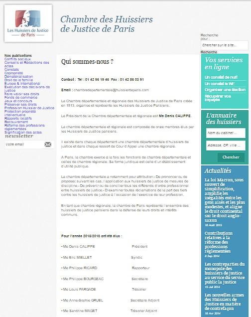 V ronique chemla des huissiers de justice probl matiques - Huissier de justice chambre nationale ...