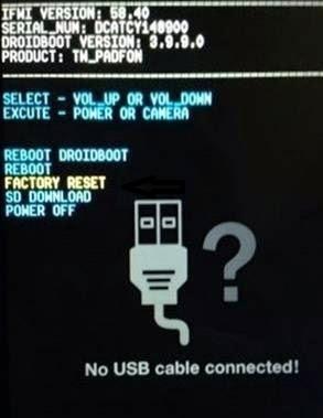 Cara Factory Reset Asus ZenFone