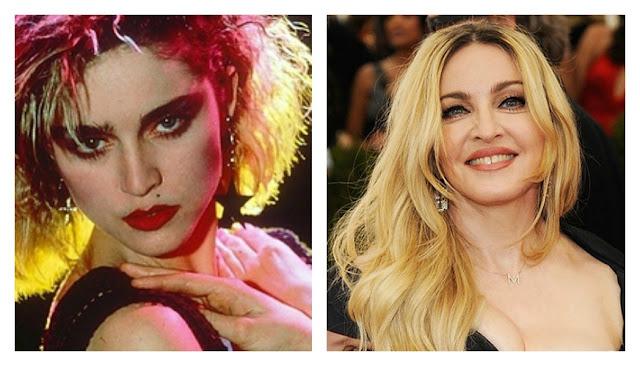 Fotografías de estrellas del Pop antes y ahora