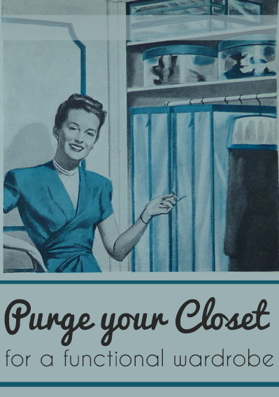 organize your vintage wardrobe
