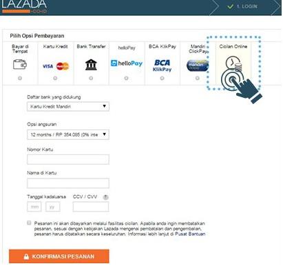Cara Belanja Di Lazada Dengan Cicilan 0 Kartu Kredit Kartu Bank